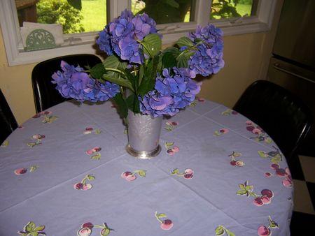 Purpletableclothand hydrangea