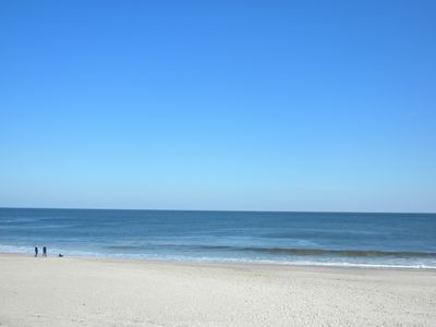 Blue sky day at beach