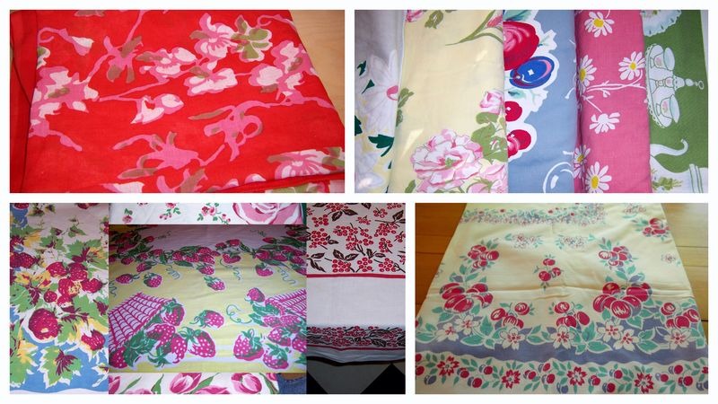 Sale tablecloths collage