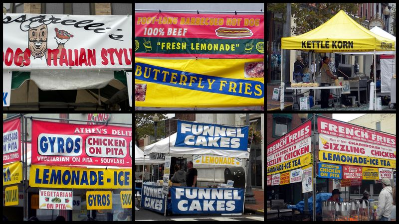 Streetfair food